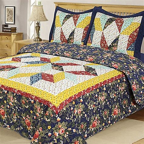 bed bath beyond quilts country star reversible quilt set bed bath beyond