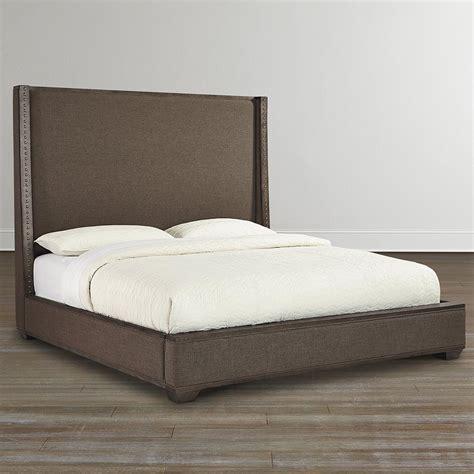 shelter bed upholstered bed weathered oak veneer