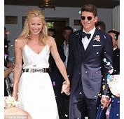 ACF Fiorentina Player Mario Gomez Smooches His Bride