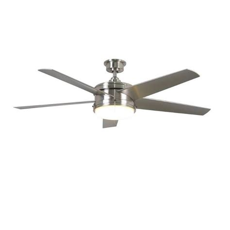 escape ii 60 in led brushed nickel ceiling fan home decorators collection portwood 60 in led indoor