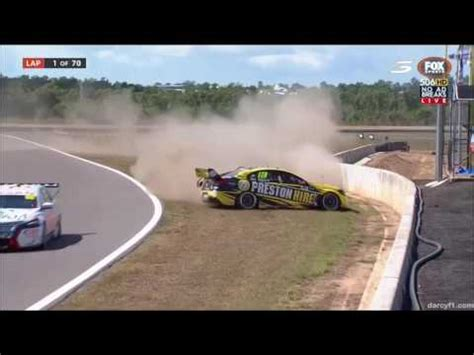V8 Supercars Darwin 2016 All Crashes and Fails   YouTube
