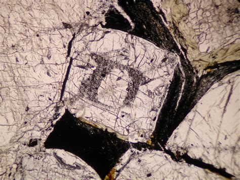 sillimanite in thin section andalusite