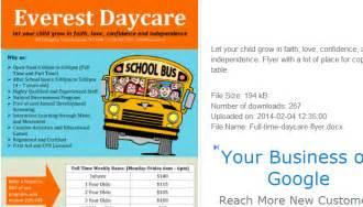 5 daycare flyers templates af templates