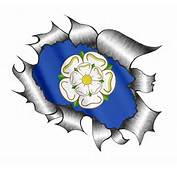 A4 Size Ripped Torn Metal Design With Yorkshire Rose