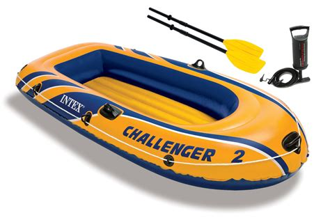 inflatable boats ebay ca intex challenger 2 inflatable boat set with pump and oars