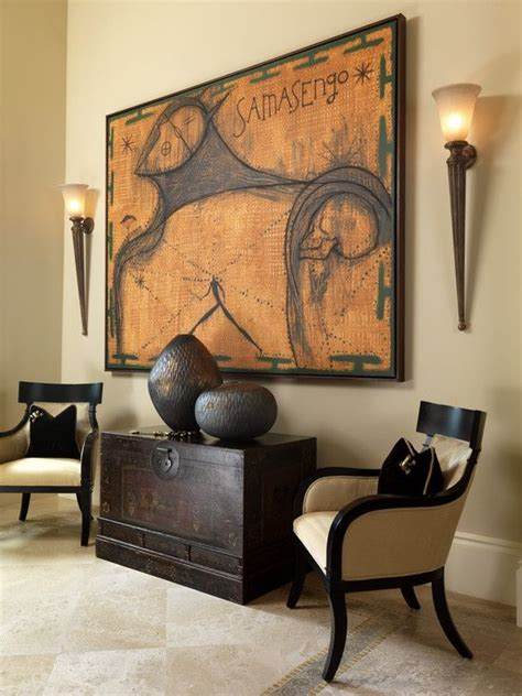 afrocentric style decor design centered on african style art work and wall sconces on pinterest