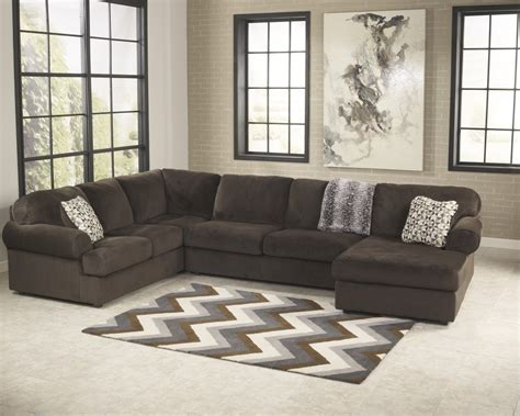 chocolate sectional jessa place chocolate 3 pc raf chaise sectional