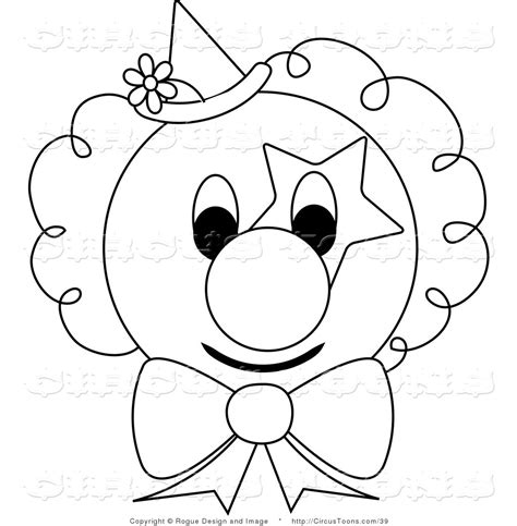 clown clipart outline pencil and in color clown clipart
