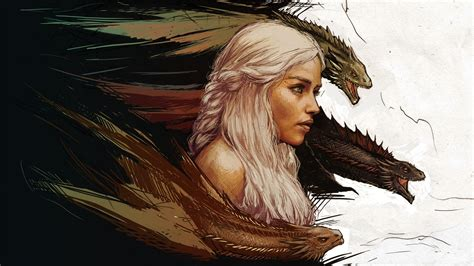 wallpaper game of thrones dragons game of thrones khaleesi wallpaper digitalart io