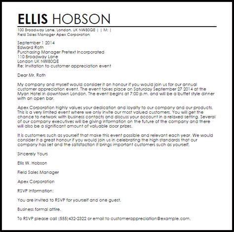 sle of formal invitation letter for an event invitation letter letters livecareer