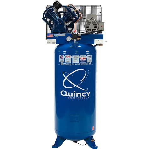 quincy qt  splash lubricated reciprocating air compressor  hp  volt  phase  gallon