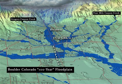 colorado flood plain map boulder creek floodplain map