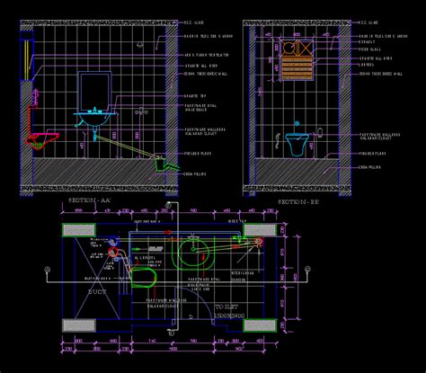 autocad section drawing toilet detail dwg section for autocad designscad