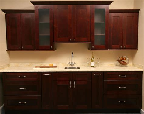 kitchen cabinets mocha shaker craftsmen network