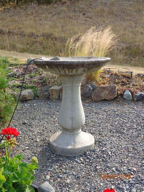 cement bird bath cobble hill cowichan