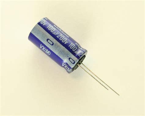 nichicon aluminium capacitors uvx2d101mha nichicon capacitor 100uf 200v aluminum electrolytic radial 2020021444