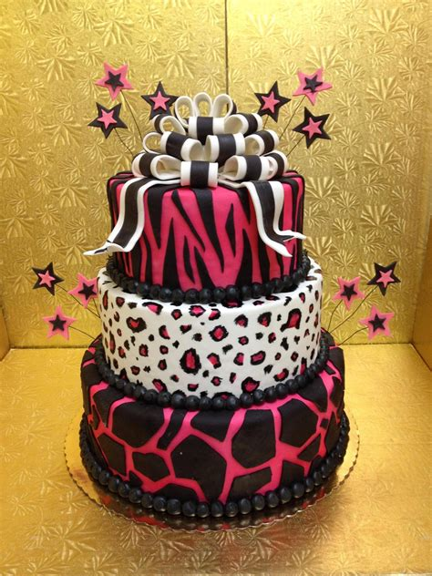 leopard print cakes decoration ideas  birthday cakes
