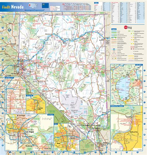 detailed map of nevada usa large detailed roads and highways map of nevada state with