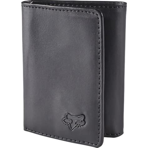 tri fold wallet card template fox racing mens black tri fold wallet ebay