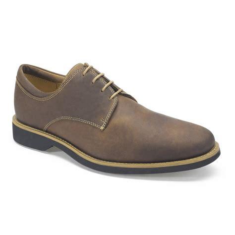 delta 5621 brown leather velcro shoe