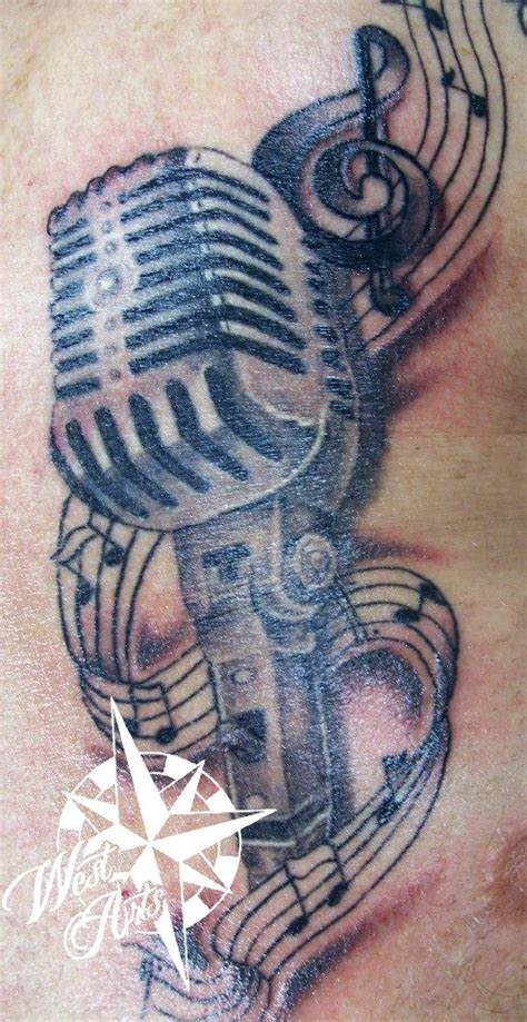 studio microphone tattoo designs microphone tattoo music tattoo microphone music notes