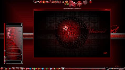 themes for windows 7 red shatter red 7 v2 theme by x ile2010 on deviantart