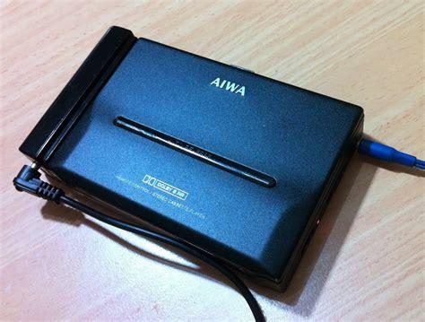 aiwa portable cassette player aiwa hs pl 55 portable cassette player vintage audio
