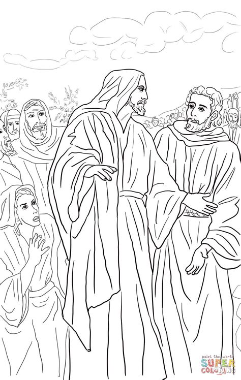 coloring page jesus heals bleeding click the jesus healed of nobleman coloring page