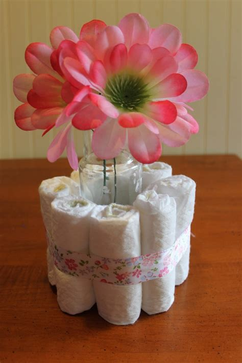 diy centerpieces for baby shower diy baby shower centerpieces using diapers frugal fanatic