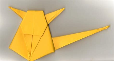 Origami Pickachu - origami pikachu by castingshadows3 on deviantart