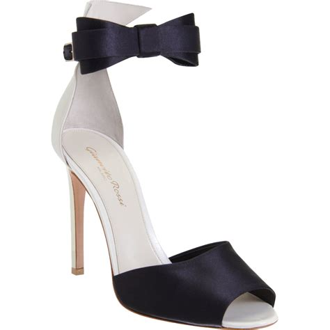 bow tie sandals gianvito bow tie sandals in black gold lyst