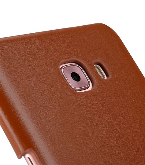 Samsung C9 Px Level Vintage Leather Slim Back premium leather snap cover for samsung galaxy c9 pro