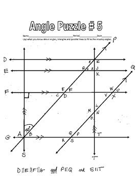angles between parallel lines worksheet parallel lines cut by a transversal printable missing angle worksheets w key