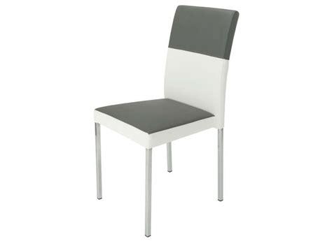 chaise empilable milo coloris gris blanc vente de chaise