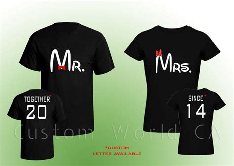 Customized Matching T Shirts For Couples Together Since Shirts Mr And Mrs T Shirt