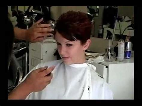 Long red hair cut super short   YouTube