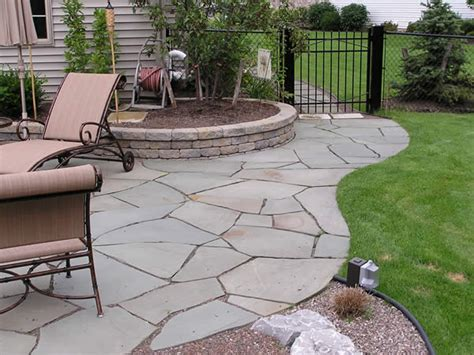 stone backyard patio craft central slate patio tiles for unique beauty of