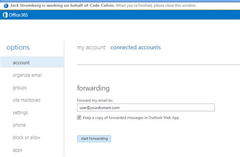 Office 365 Mail Contact Forwarding Office 365 Forwarding Email From One Mailbox To