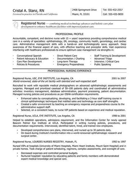 resume tips for nurses 391 best images about on new