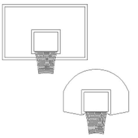 Bola Basketring panier de basket dwg blocscad