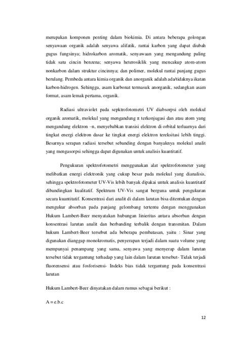 makalah asam format makalah analisa farmasi kuantitatif spektro uv vis dan