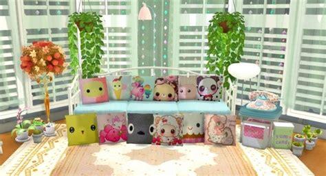 Kawaii Home Decor by Kawaii Pillow At Simlife 187 Sims 4 Updates