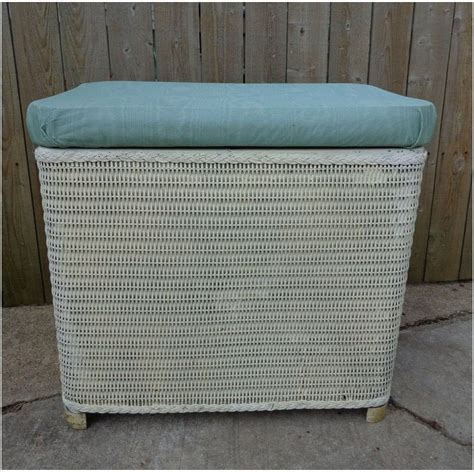 laundry basket bench vintage wicker bench seat laundry her bathroom decor