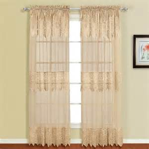 United curtain valerie lace sheer window curtain panel 52 by 84 inch
