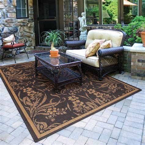 outside rugs patios comfort elements for your patio the soothing