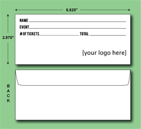 printable ticket envelope diy printed ticket envelope