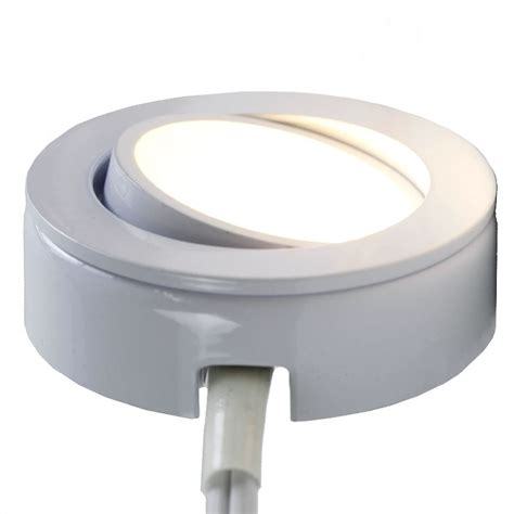 120v 4 5w Led Under Cabinet Puck Light Aquccpk10 By Led Dimmable Cabinet Lighting