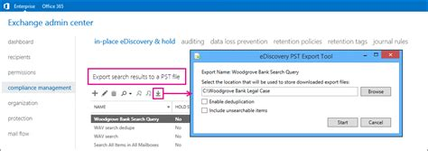 Office 365 Portal Export To Pst Export Ediscovery Search Results To A Pst File