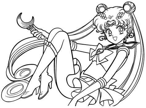 free printable sailor moon coloring pages for