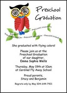 pre k graduating announcements and invitations with wise owl this preschool graduation